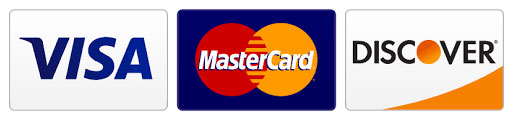image of credit cards accepted by Erv Smith Services Inc: Visa, MasterCard & Discover
